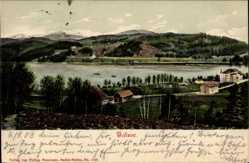 Postcard Titisee Neustadt im Breisgau Hochschwarzwald, Blick auf den Ort, Berge