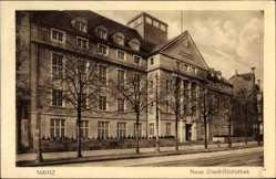 Postcard Mainz in Rheinland Pfalz, Blick auf die neue Stadt Bibliothek, Straßenpartie