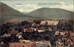Postcard Goslar in Niedersachsen, Blick auf das Kaiserhaus, Fliegeraufnahme