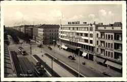 Postcard Szczecin Stettin Pommern, Paradeplatz, UFA Palast, Kaufhaus, Kino