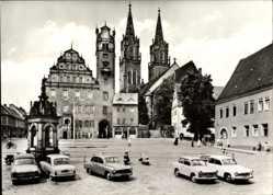 Ak Oschatz in Nordsachsen, Platz der Deutsch Sowjetischen Freundschaft