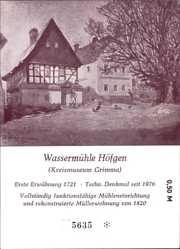 Ak Höfgen Böhlen Grimma in Sachsen, Wassermühle, Fachwerkhaus von 1820