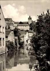 Ak Colditz in Sachsen, Partie im Klein Venedig, Fernblick auf Burg