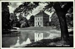 Postcard Dessau in Sachsen Anhalt, Seepartie mit Blick auf das Luisium