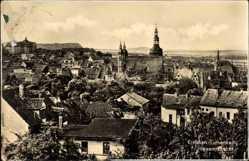 Postcard Lutherstadt Eisleben in Sachsen Anhalt, Totalansicht der Ortschaft