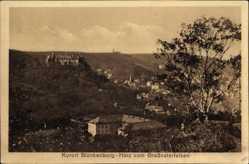 Postcard Blankenburg am Harz, Blick vom Großvaterfelsen auf den Ort