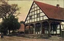Ak Lubiechów Górny Hohen Lübbichow Pommern, Bauernhaus