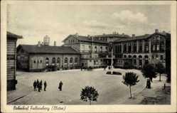 Postcard Falkenberg an der Elster, Blick auf den Bahnhof