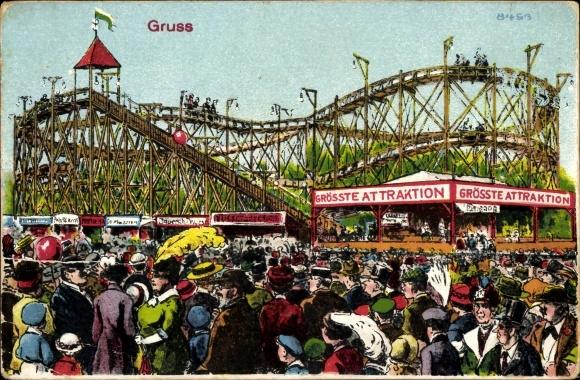 Künstler Ansichtskarte Postkarte Gruß Vom Jahrmarkt Akpoolde