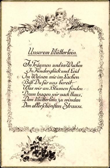 Kinderglück gedicht über MUTTER Gedichte
