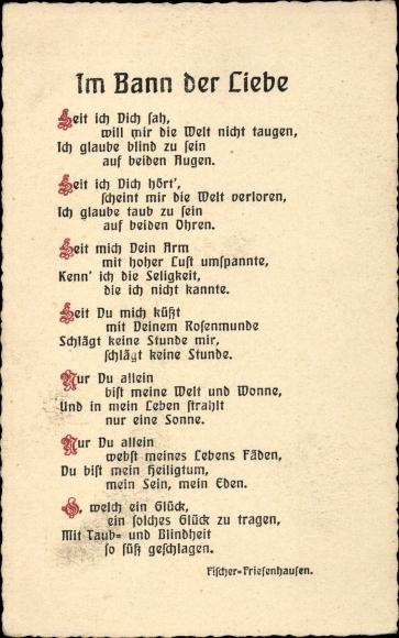 Gedicht Postcard Im Bann Der Liebe Seit Ich Dich Akpoolcouk