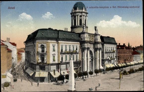 Arad Rumänien postcard arad rumänien a minorita templom a szt akpool co uk