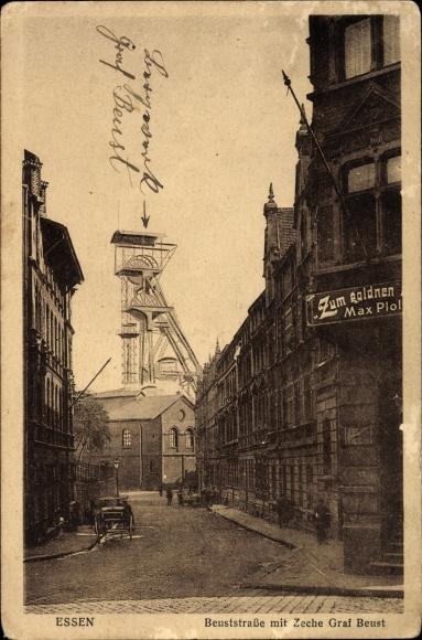 Ansichtskarte / Postkarte Essen im Ruhrgebiet, Beustraße   akpool.de