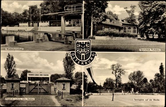 Ansichtskarte postkarte osterburg altmark stadion for Schwimmbad stendal