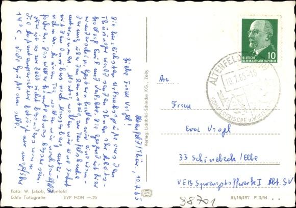 Rückseite Wappen Ansichtskarte Postkarte Altenfeld