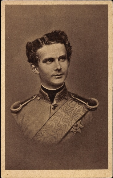König Ludwig II Portrait Königreich Bayern K/&K Albert A3 Ludwig 02 Rahmen