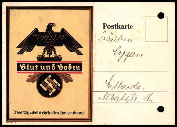 Postcard Blut und Boden, Symbol wahrhaften Bauerntums | akpool.co.uk