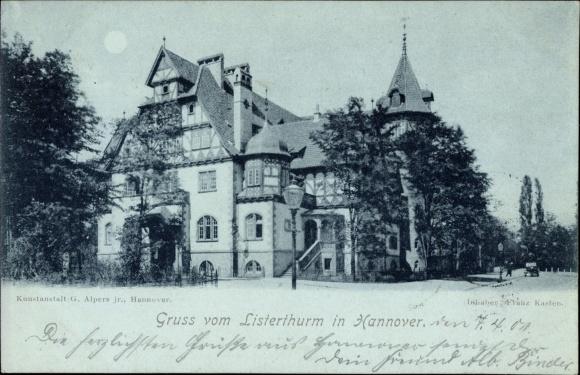 Moonlight Postcard Hannover In Niedersachsen Listerthurm