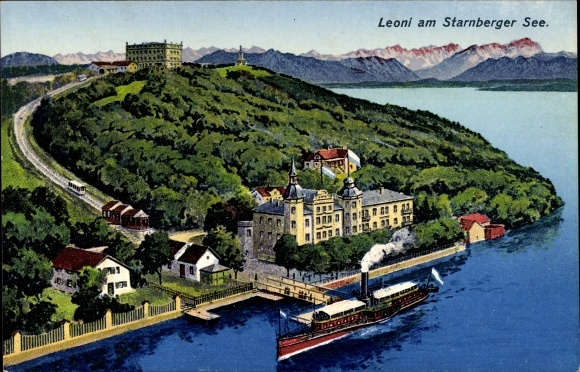 Berg Am Starnberger See postcard leoni berg am starnberger see dfer an der akpool co uk