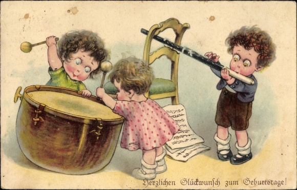Ansichtskarte Postkarte Gluckwunsch Geburtstag Kinder Akpool De