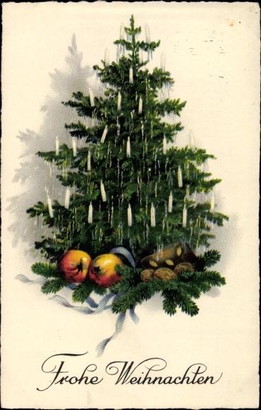 ansichtskarte postkarte frohe weihnachten tannenbaum. Black Bedroom Furniture Sets. Home Design Ideas