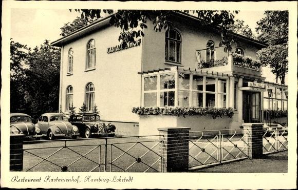postcard hamburg eimsb ttel lokstedt restaurant kastanienhof kollaustra e 135. Black Bedroom Furniture Sets. Home Design Ideas
