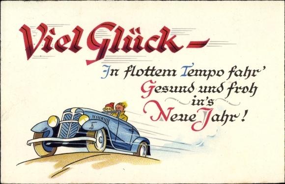 Ansichtskarte / Postkarte Glückwunsch Neujahr, In flottem | akpool.de