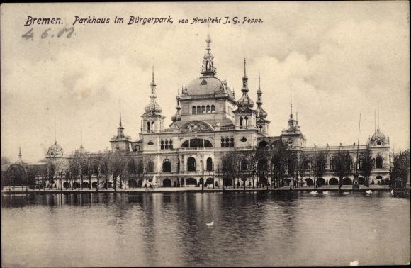Bremen Architekt postcard hansestadt bremen blick zum parkhaus im akpool co uk