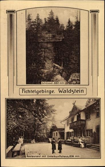postcard zell im fichtelgebirge waldstein unterkunftshaus. Black Bedroom Furniture Sets. Home Design Ideas