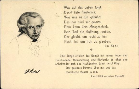 Artist Postcard Philosoph Immanuel Kant Aufklärung