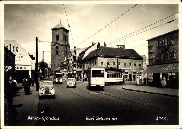 Ansichtskarte Postkarte Berlin Spandau Verkehr Auf Der Akpoolde