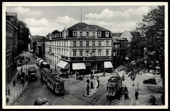 Ansichtskarte postkarte bielefeld hotel zur post am for Hotel bremen bielefeld