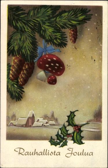 ansichtskarte postkarte frohe weihnachten rauhallista. Black Bedroom Furniture Sets. Home Design Ideas