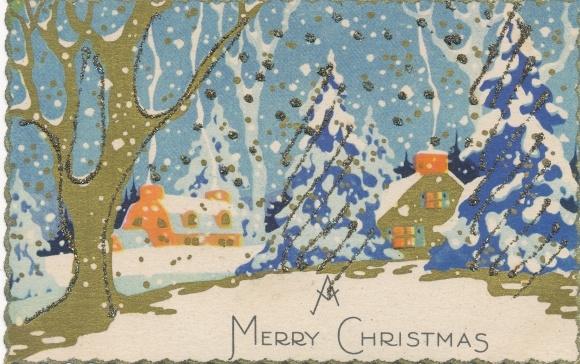 Frohe Weihnachten Glitzer.Glitzer Ansichtskarte Postkarte Frohe Weihnachten Merry Akpool De