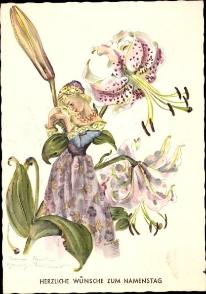 Artist Postcard Schwarz Torinus Anna Marie Akpoolcouk