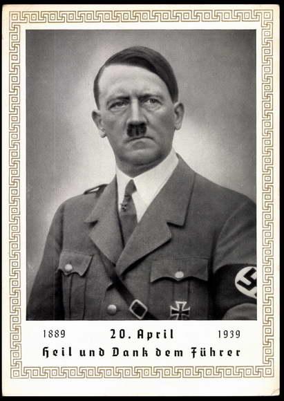 Postcard Portrait Adolf Hitler