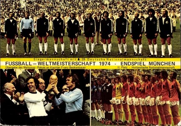 Riesen Postcard Fussball Weltmeisterschaft 1974 Akpool Co Uk