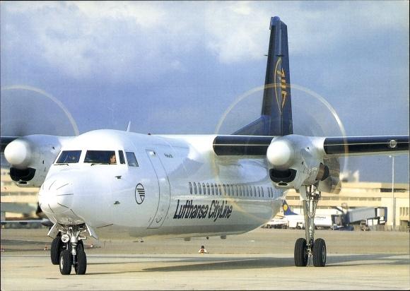 Postcard Deutsches Passagierflugzeug Der Lufthansa City Akpoolcouk