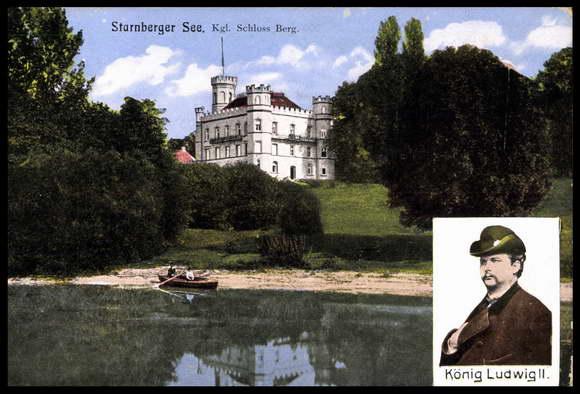 Berg Am Starnberger See postcard berg starnberger see king ludwig ii schloss akpool co uk