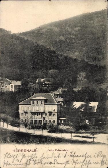 Villa Falkenstein postcard bad herrenalb im schwarzwald villa akpool co uk