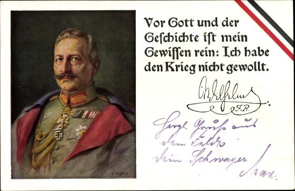 Ansichtskarte / Postkarte Kaiser Wilhelm II., Vor Gott und | akpool.de