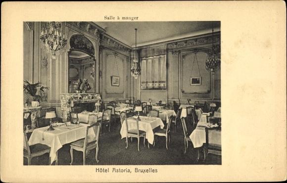 Postcard Bruxelles Brussel Hotel Astoria Salle A Akpool Co Uk