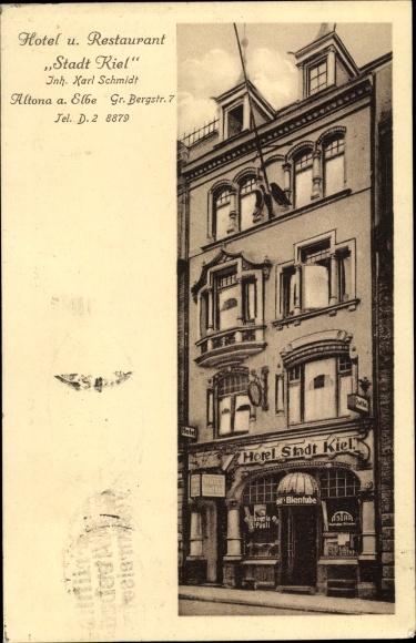 Ansichtskarte Postkarte Hamburg Altona Hotel Und Akpoolde