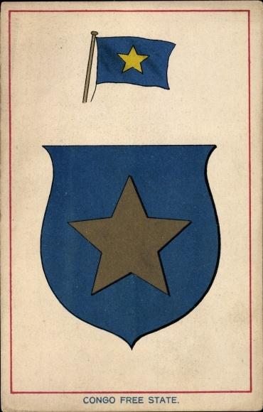 Coat of Arms Postcard Congo Free State, Kongo | akpool co uk