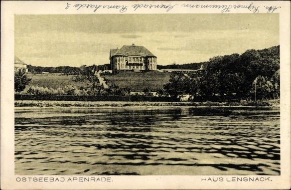 Postcard Aabenraa Apenrade Danemark Haus Lensnack Akpool Co Uk
