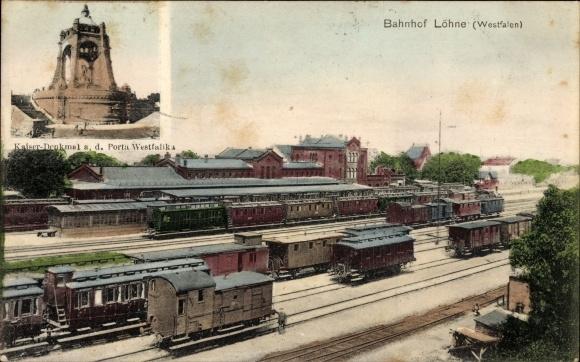 Bahnhof Löhne ansichtskarte postkarte löhne nrw bahnhof gleisseite akpool de