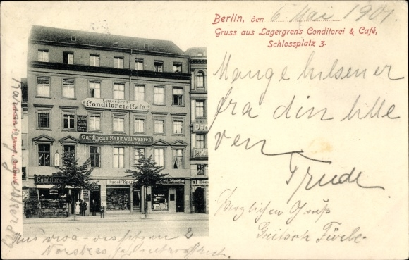 Postcard Berlin Mitte, Lagergrens Konditorei und Cafe, | akpool.co.uk