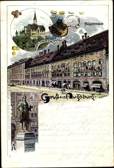 Künstler Augsburg künstler wappen litho fuchs karl augsburg in schwaben akpool de