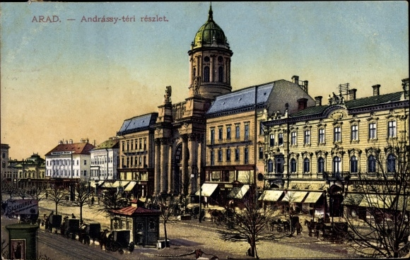 Arad Rumänien postcard arad rumänien andrassy teri reszlet akpool co uk