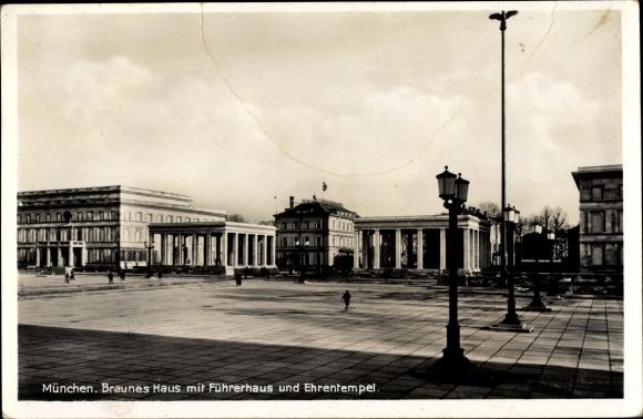 Braunes Haus postcard münchen bayern braunes haus mit führerhaus akpool co uk